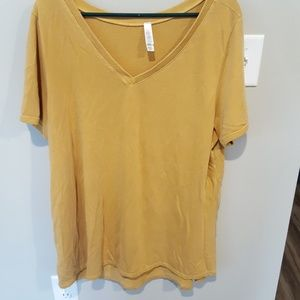 3xl Christy T mustard color